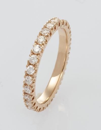 020 griff Roségold mit weißen Diamanten